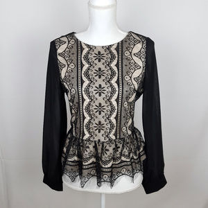 Ina Tops - NWT INA Lace Top With Long Sleeves